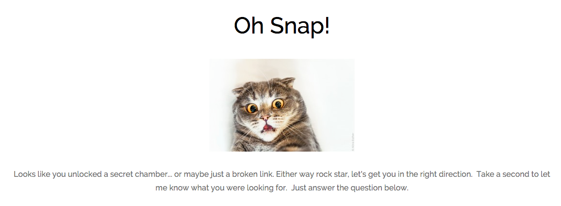 Daniel Bussius How To Create A Killer 404 Page Example