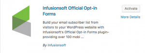 infusionsoft wordpress plugin
