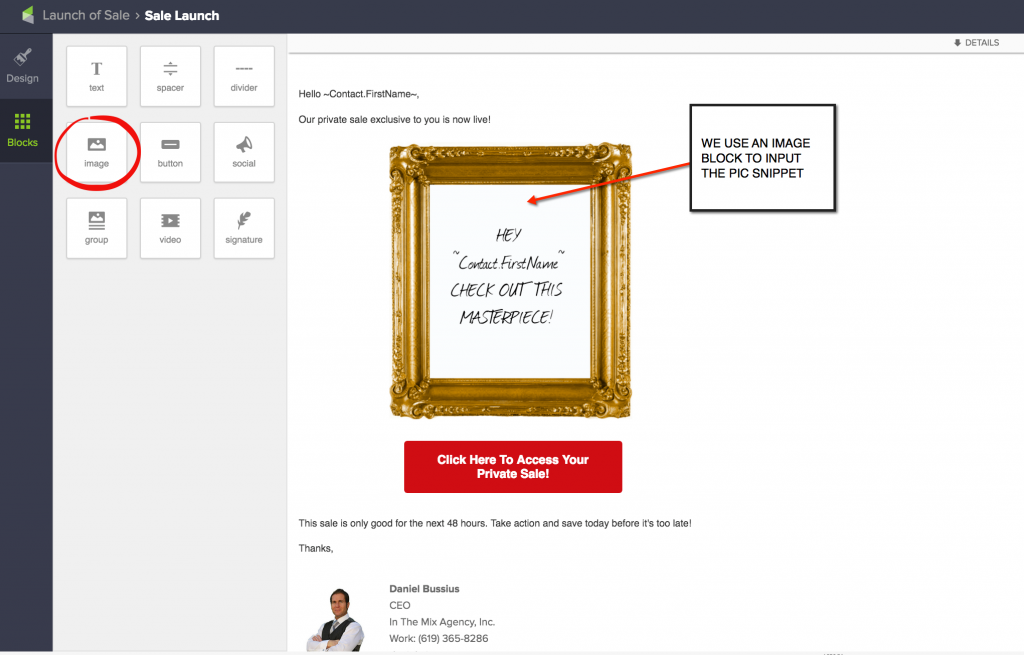 Create Personalized Images In Your Email