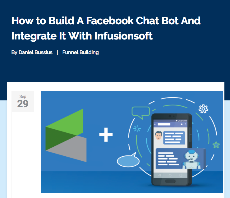 Tools the Pros Use - Facebook Chatbot - daniel bussius