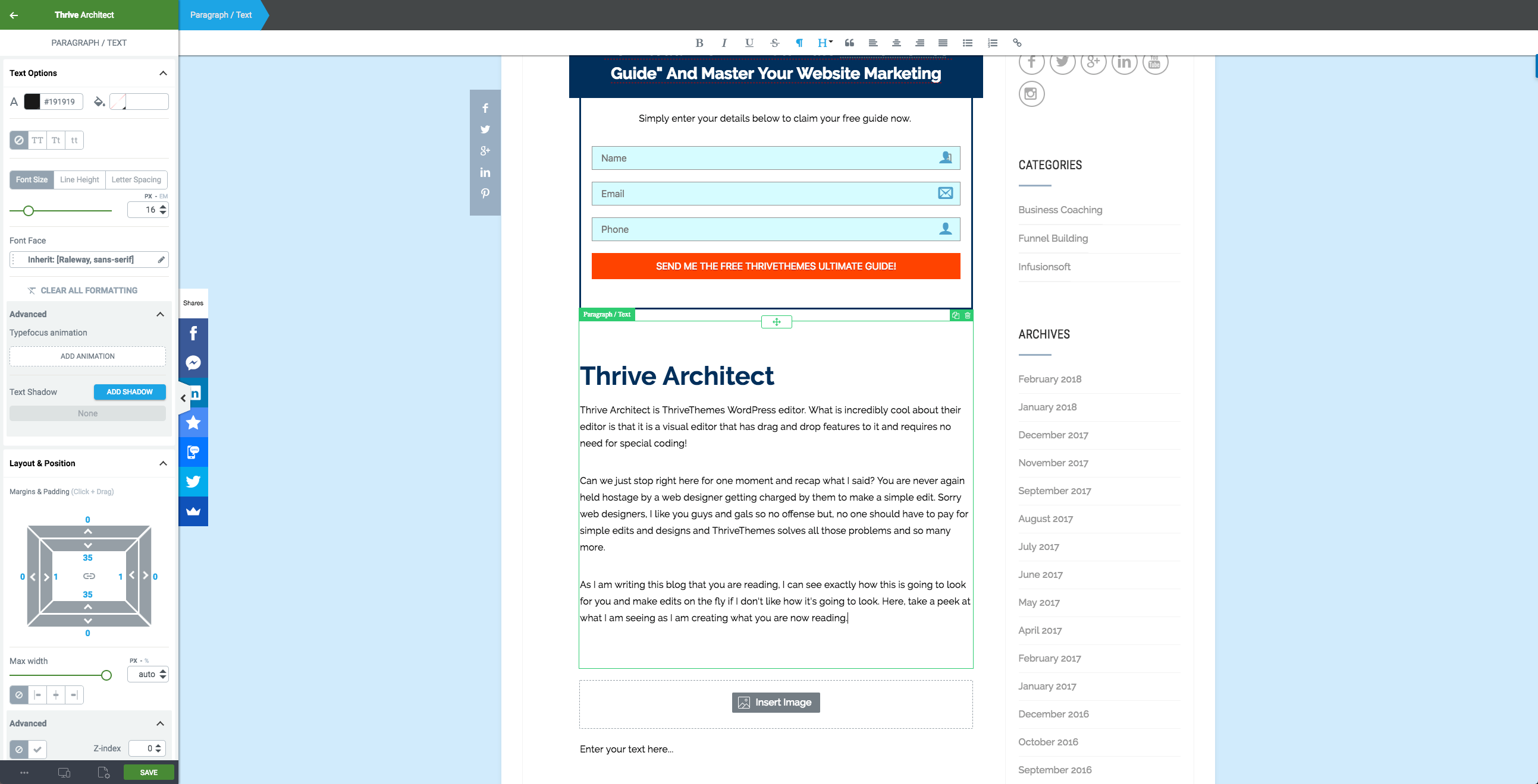 ThriveThemes Architect Example