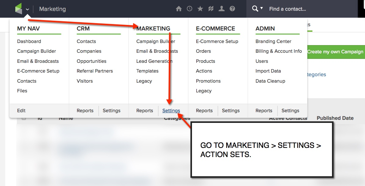 One Click Purchase Marketing Settings