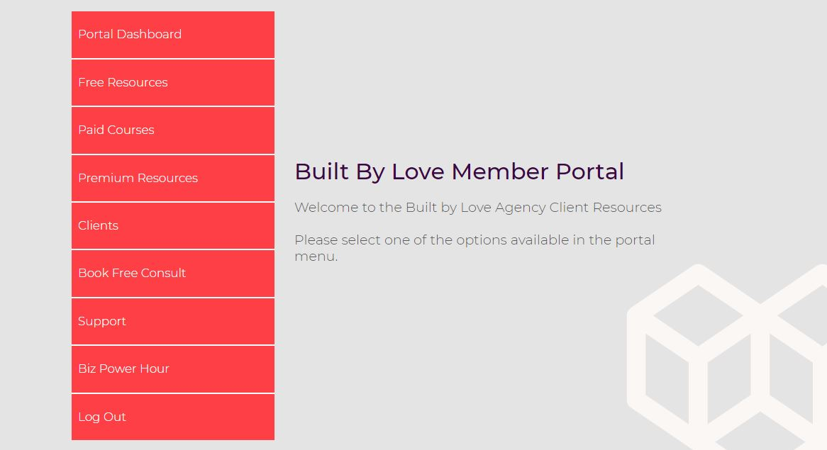 an image of the Built By Love Membership Site