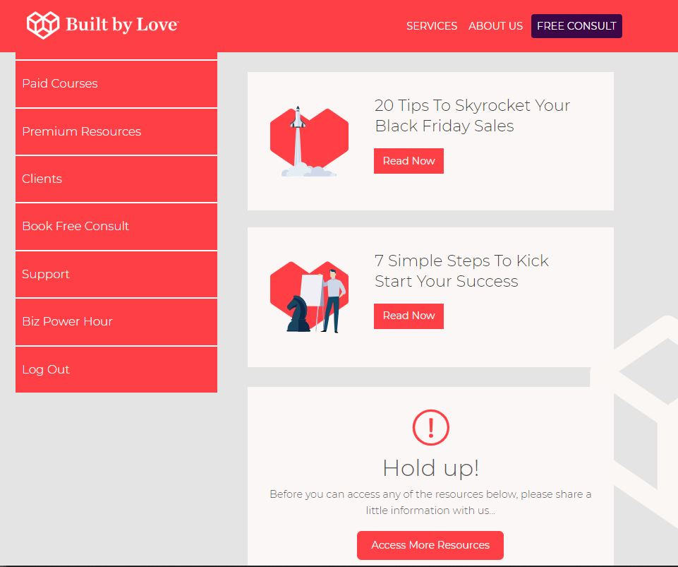image of Built By Love Membership Portal