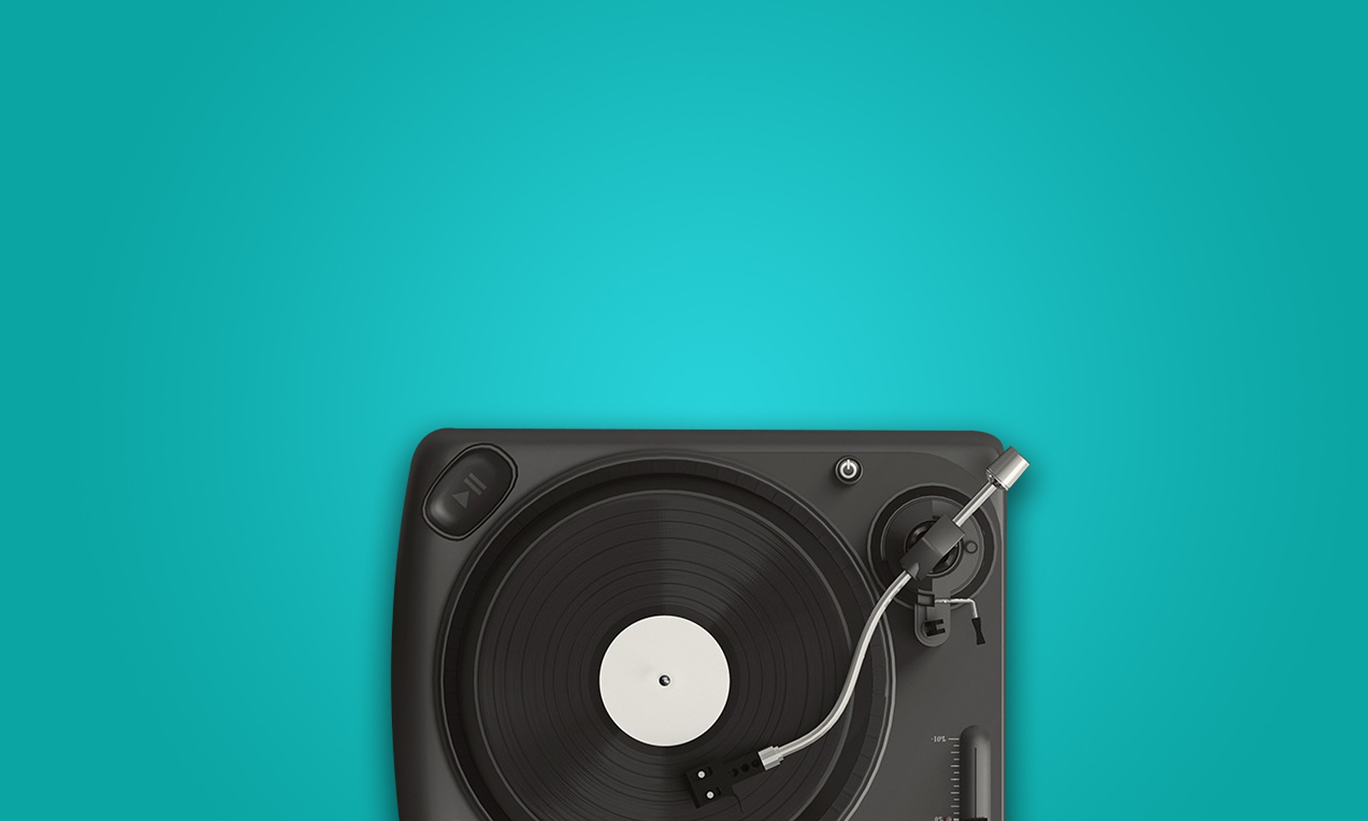 Image of a turntable symbolizing Music and Marketing