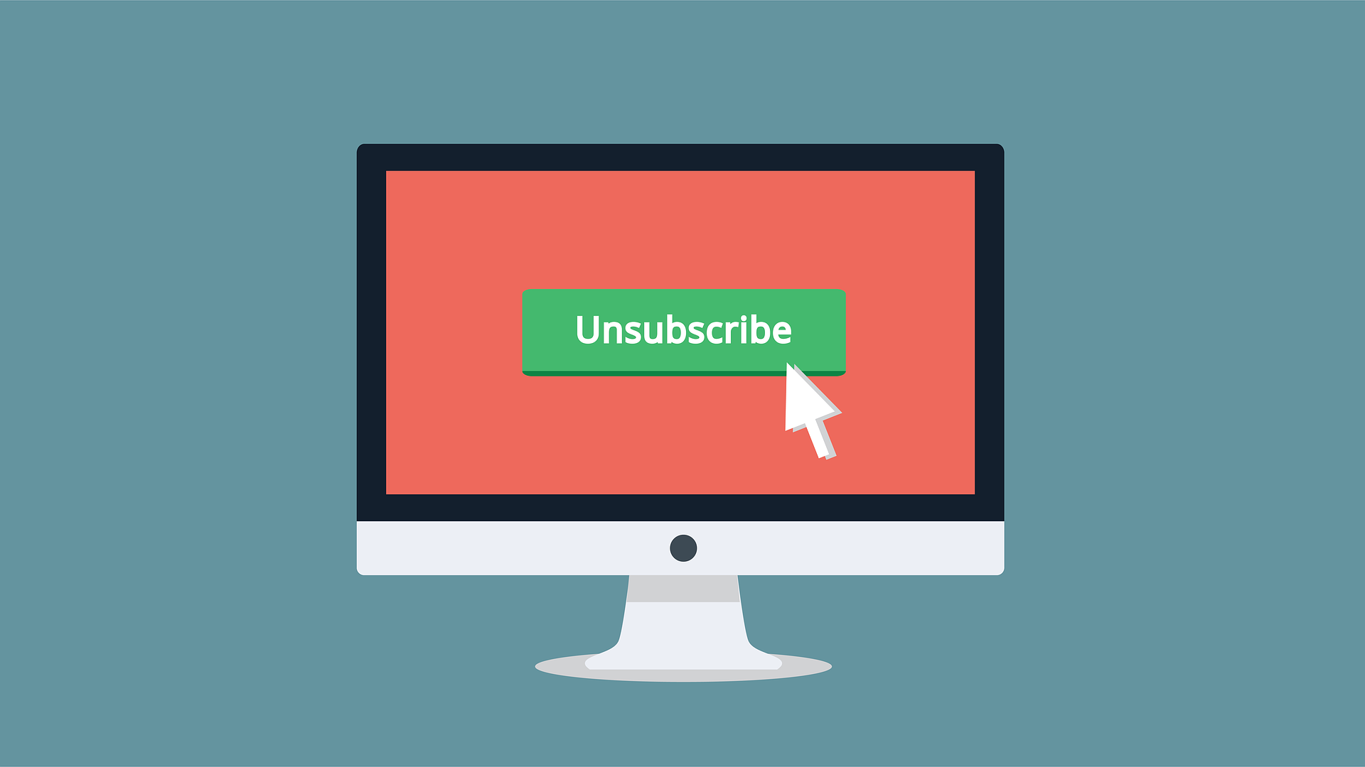 Image of an unsubscribe button symbolizing the importance of an email distribution schedule