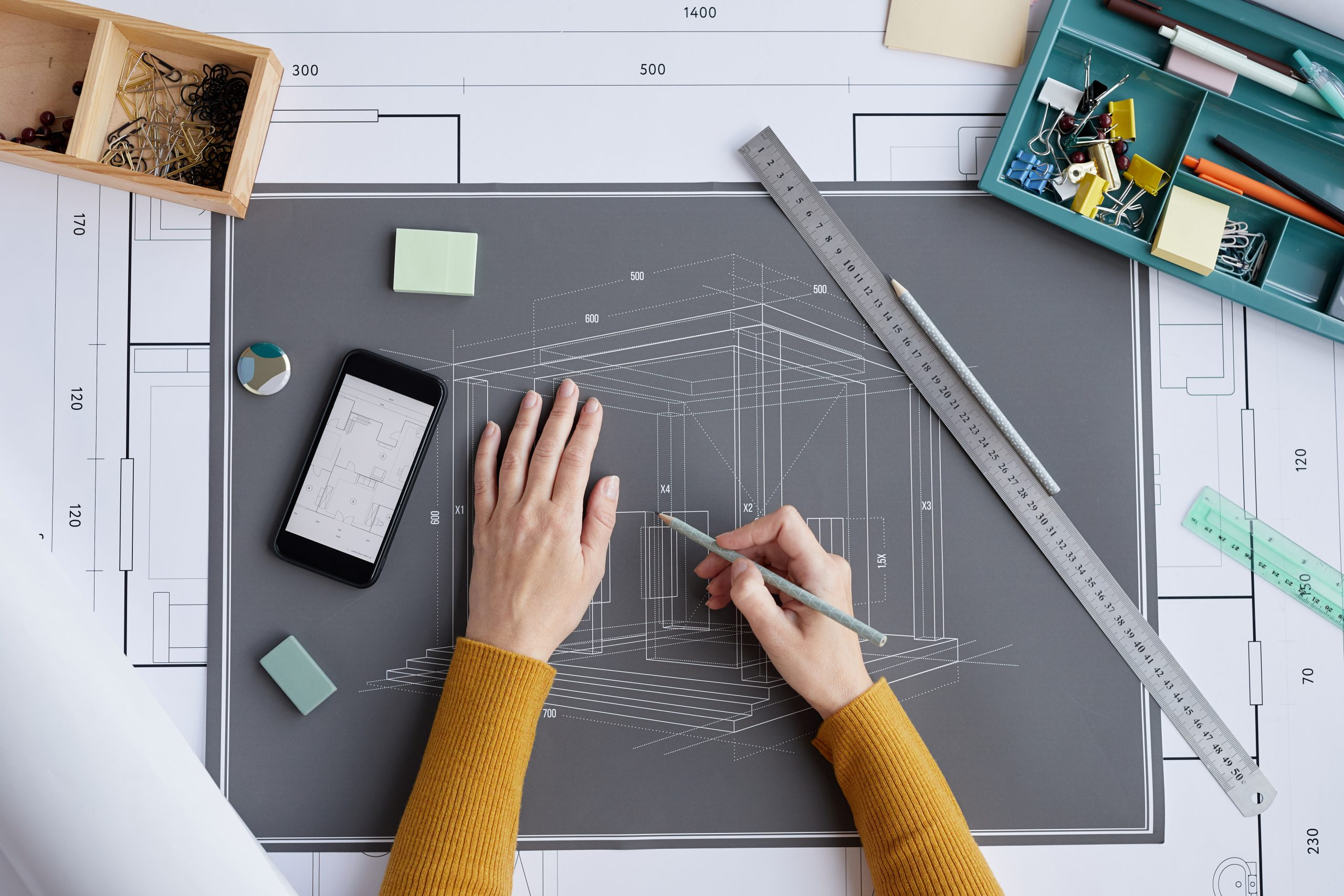 image of a blueprint symbolizing the Marketing RAMP a blueprint for business