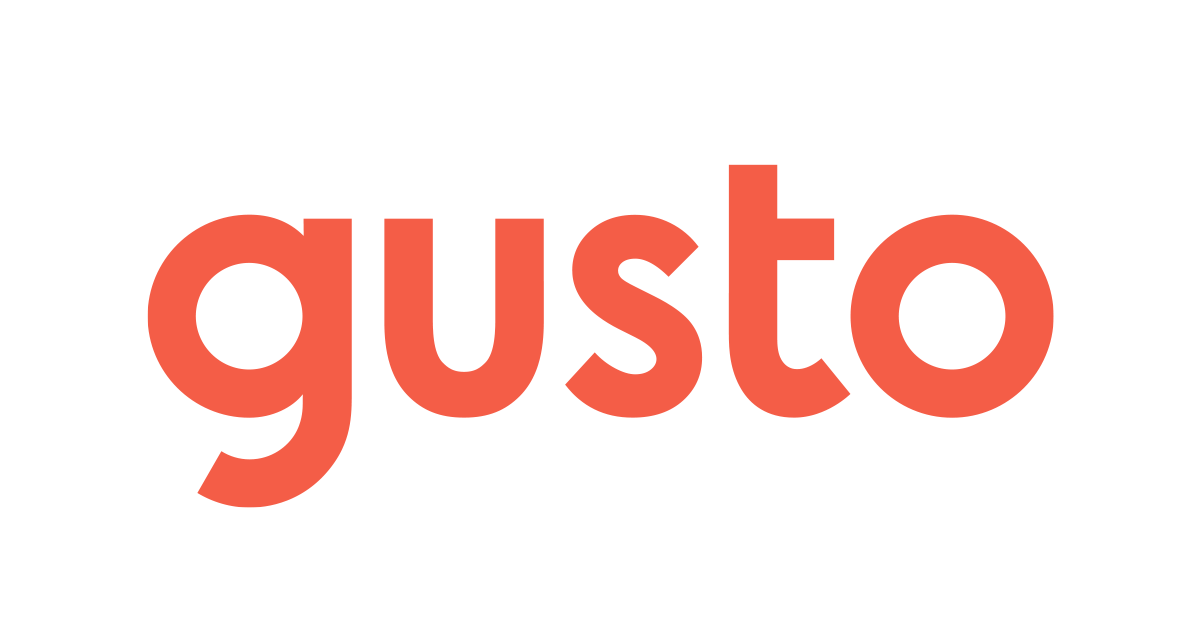 Gusto logo recommended payroll software by marketing expert daniel bussius