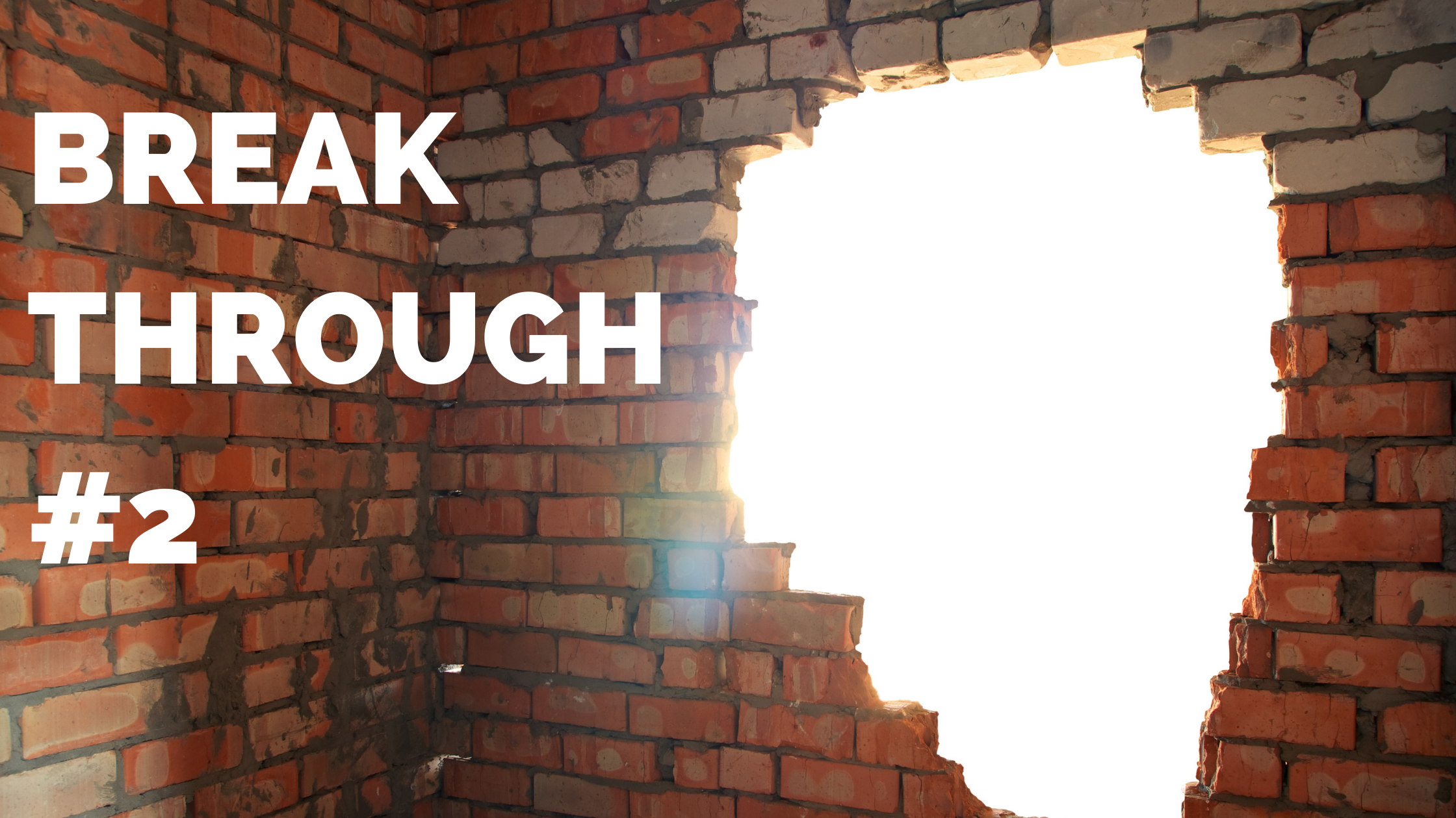 image of breaking through a wall for next level marketing results