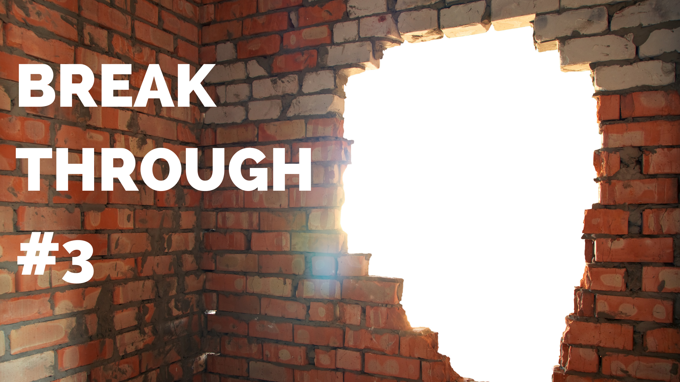 image of breaking through a wall for marketing results with the Marketing RAMP