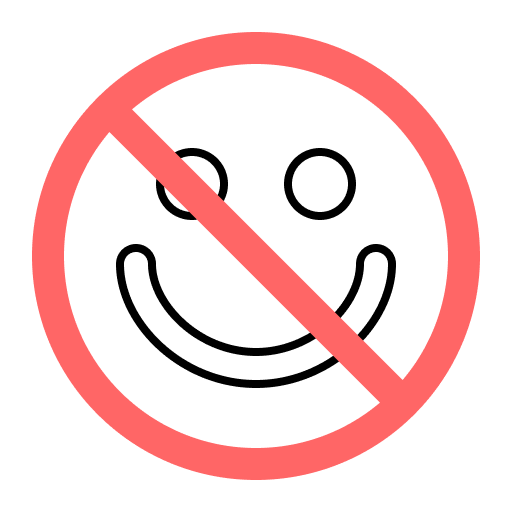 no smile  symbol representing marketing fails that can be fixed by the Marketing RAMP